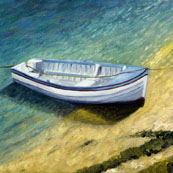 White Boat at Mousehole Preview
