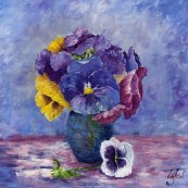 Posy of Pansies Preview
