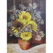 Sunflowers in Terracotta Jug Preview